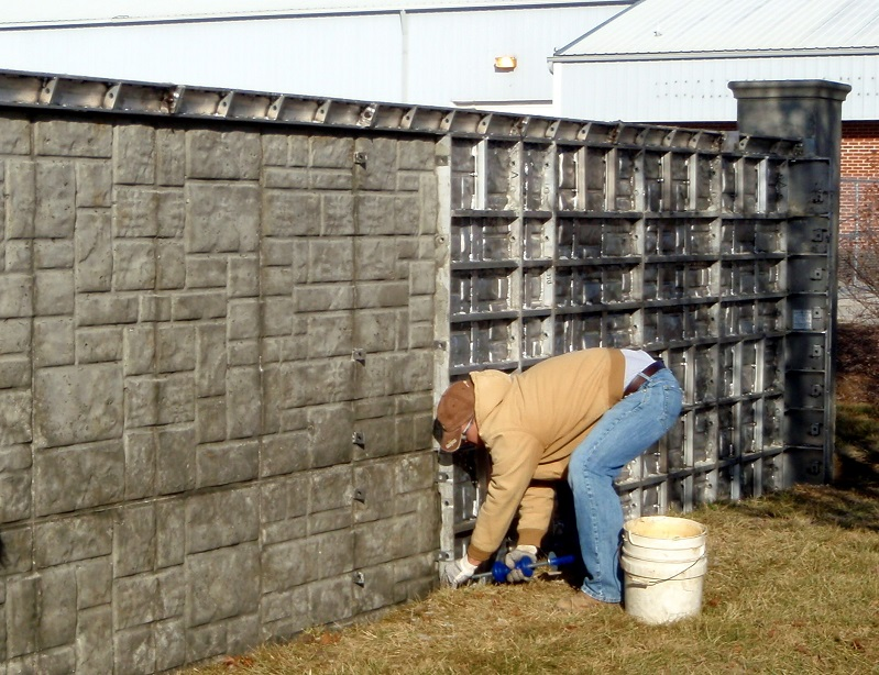 WTF Fence System is designed for ease of use with minimal maintenance. the systems offer flexibility and a wide variety of designs. Facesheets are available in smooth, smooth brick, textured brick, vertibrick, block and rock designs. Walls are designed to integrate with columns, column spacings are adjustable with the use of fillers.